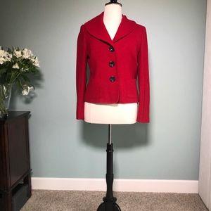 Talbots red jacket size 16